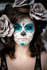 art-beautiful-beth-blue-day-of-the-dead-dia-de-los-muertos-Favim.com-60503