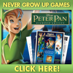 FREE Peter Pan never grow up printable puzzles and games