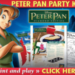 Free Peter Pan party kit activities