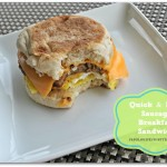 Quick and easy Tyson sausage breakfast sandwiches