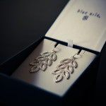 Blue Nile chandelier leaf earrings giveaway for Mother's Day + discount code