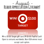 August reader appreciation $100 Target gift card giveaway