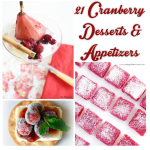 21 cranberry desserts and appetizers