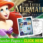FREE The Little Mermaid coloring pages and puzzle