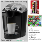 Keurig Kcup brewer and coffee starter packages make great gifts