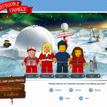 Create your own custom LEGO Minifigure Family holiday card