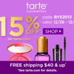 Tarte Cosmetics Year End Sale