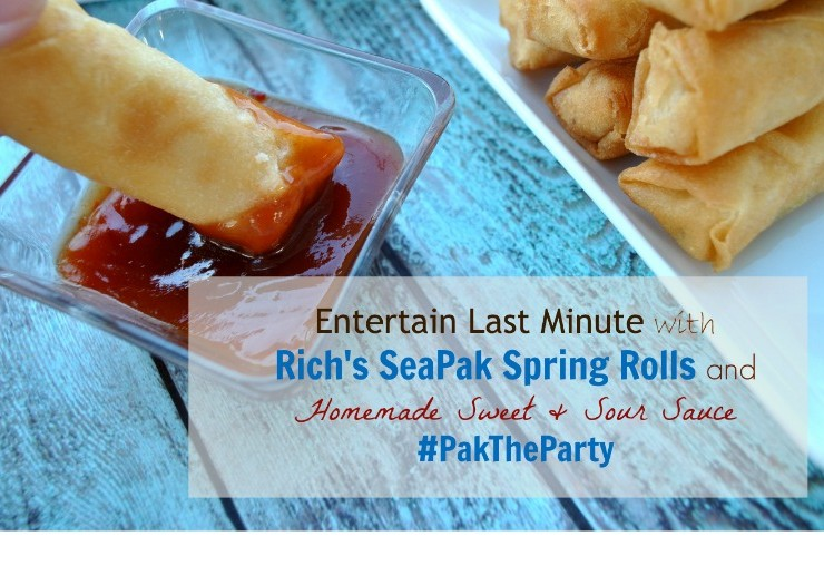 Easily entertain with Rich's SeaPak Spring Rolls and homemade sweet and sour sauce