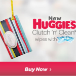 NEW Huggies Clutch 'n' Clean wipes