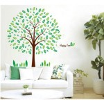Tree wall stickers beautify a room