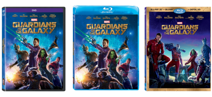 Marvel's GUARDIANS OF THE GALAXY Blu-ray combo pack
