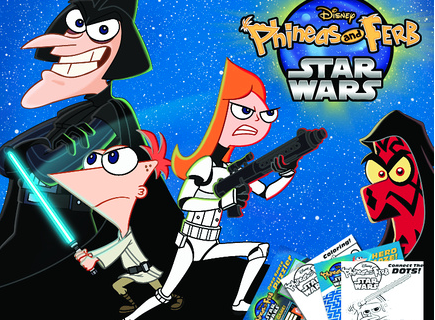 Activity Sheets: Phineas and Ferb: Star Wars