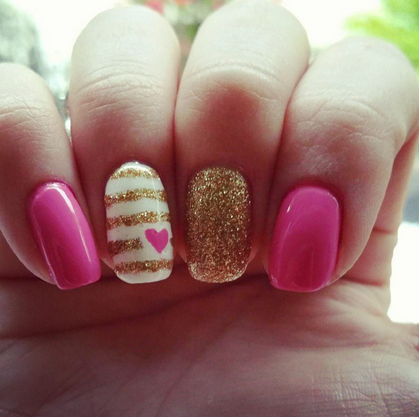 Gold Accent Finger Valentine's
